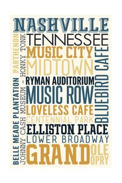 Nashville, Tennessee - Typography by Lantern Press