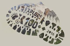 National Park Service Centennial - Footprint by Lantern Press