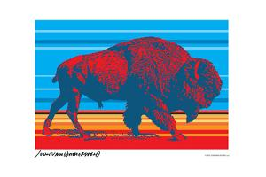 Native Buffalo - John Van Hamersveld Poster Artwork by Lantern Press