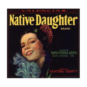 Native Daughter Brand - Santa Susana, California - Citrus Crate Label by Lantern Press