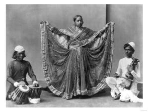 Nautch Girl Dancing with Musicians Photograph - Calcutta, India by Lantern Press