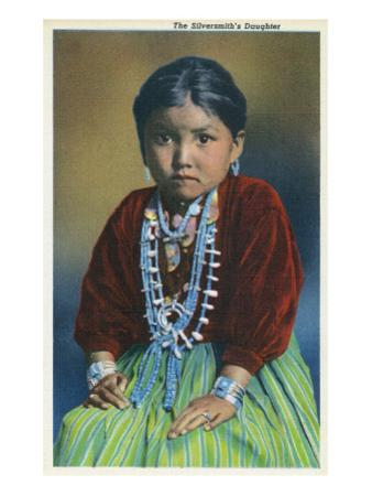 Navajo Silversmith's Daughter by Lantern Press