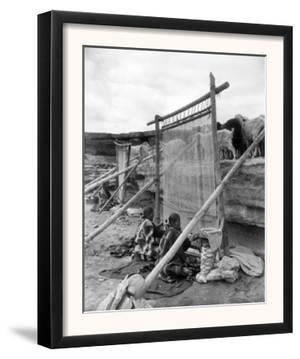 Navajo Women Weaving Blankets Photograph by Lantern Press