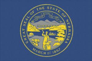 Nebraska State Flag by Lantern Press