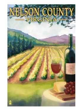 Nelson County, Virginia - Vineyard Scene by Lantern Press
