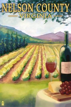 Nelson County, Virginia - Vineyard Scene by Lantern Press