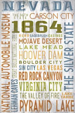 Nevada - Barnwood Typography by Lantern Press