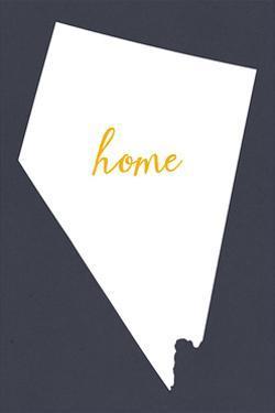 Nevada - Home State - White on Gray by Lantern Press