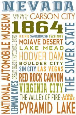 Nevada - Typography by Lantern Press