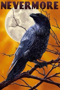Nevermore - Raven and Moon by Lantern Press