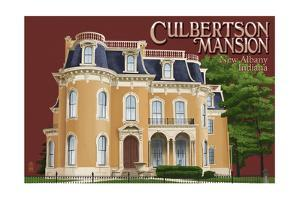 New Albany, Indiana - Culbertson Mansion by Lantern Press
