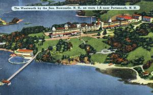 New Hampshire, Aerial View of Wentworth by the Sea, Newcastle and Portsmouth by Lantern Press