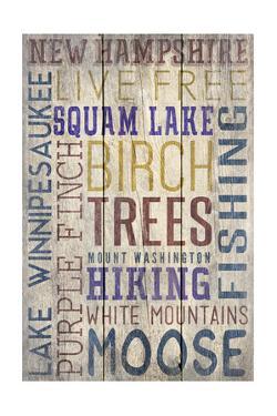New Hampshire - Barnwood Typography by Lantern Press