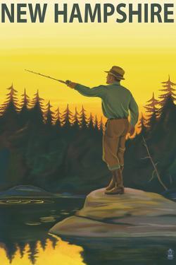 New Hampshire - Fisherman by Lantern Press
