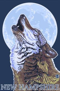 New Hampshire - Howling Wolf by Lantern Press