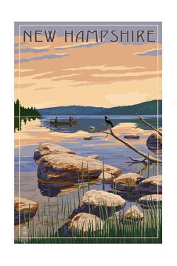 New Hampshire - Lake Sunrise Scene by Lantern Press