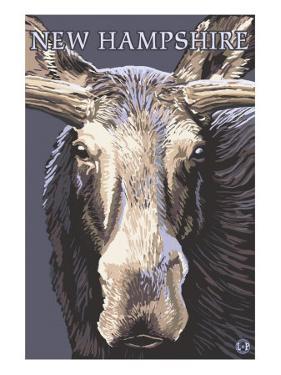 New Hampshire - Moose Up Close by Lantern Press
