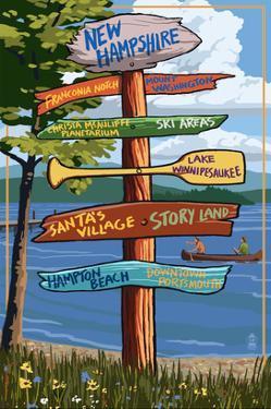 New Hampshire - Sign Destinations by Lantern Press