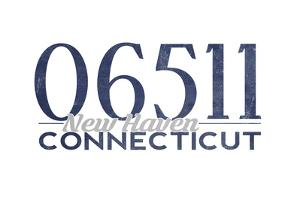 New Haven, Connecticut - 06511 Zip Code (Blue) by Lantern Press