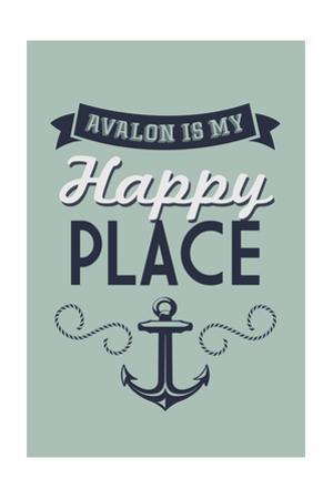New Jersey - Avalon is My Happy Place by Lantern Press