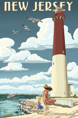 New Jersey - Lighthouse Scene by Lantern Press