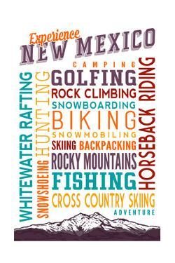 New Mexico - Experience Typography by Lantern Press