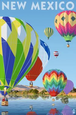 New Mexico - Hot Air Balloons by Lantern Press