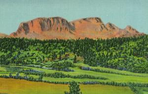 New Mexico, Santa Fe Trail View of Hermit's Peak, Human Face Rock Formation by Lantern Press
