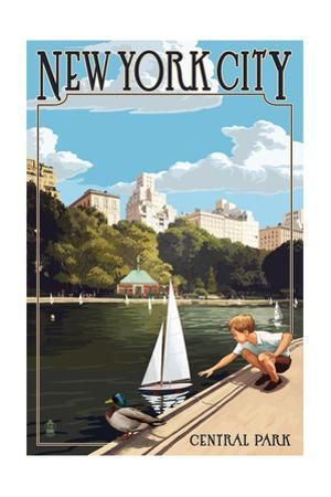 New York City, New York - Central Park by Lantern Press