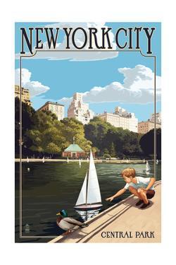 New York City, New York - Central Park by Lantern Press