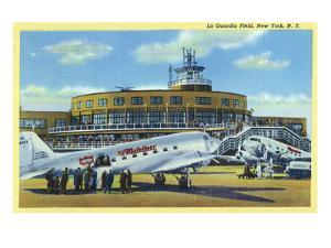 New York City, New York - La Guardia Field with Parked Planes by Lantern Press