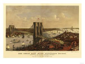 New York City, New York - Panoramic Map by Lantern Press