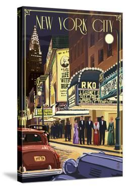 New York City, New York - Theater Scene by Lantern Press