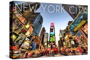 New York City, New York - Times Square by Lantern Press