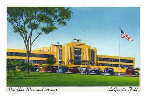 New York City, New York - View of La Guardia Airport Terminal by Lantern Press