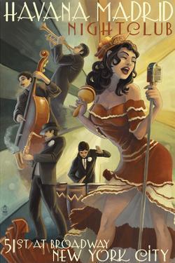 New York City, NY - Havana Madrid Nightclub by Lantern Press