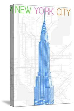 New York City, NY - Neon Chrysler Building by Lantern Press