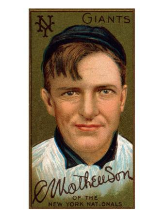 New York City, NY, New York Giants, Christopher Mathewson, Baseball Card by Lantern Press