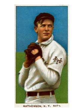 New York City, NY, New York Giants, Christy Mathewson, Baseball Card by Lantern Press