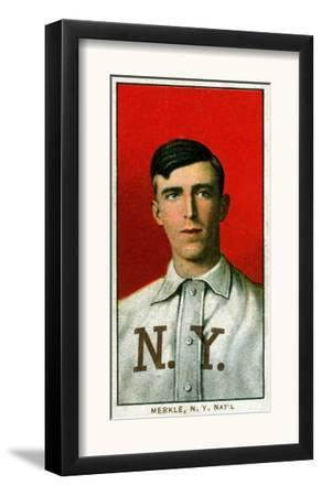 New York City, NY, New York Giants, Fred Merkle, Baseball Card by Lantern Press