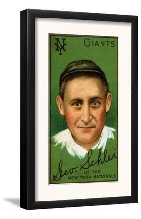 New York City, NY, New York Giants, George H. Schlei, Baseball Card by Lantern Press