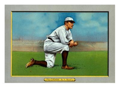 New York City, NY, New York Giants, John McGraw, Baseball Card by Lantern Press