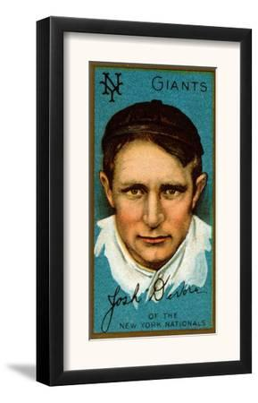 New York City, NY, New York Giants, Joshua Devore, Baseball Card by Lantern Press