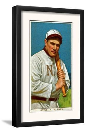 New York City, NY, New York Giants, Larry Doyle, Baseball Card by Lantern Press