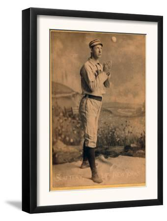 New York City, NY, New York Giants, Mike Slattery, Baseball Card by Lantern Press