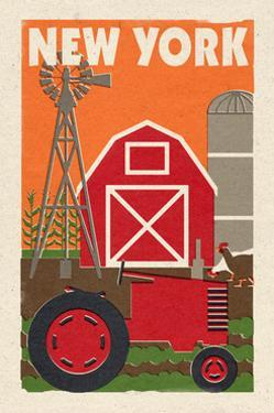 New York - Country - Woodblock by Lantern Press