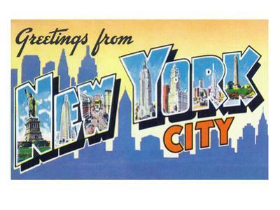 New York, New York - Large Letter Scenes by Lantern Press
