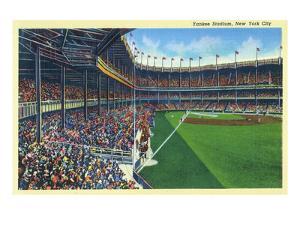New York, New York - Yankee Stadium Interior View by Lantern Press