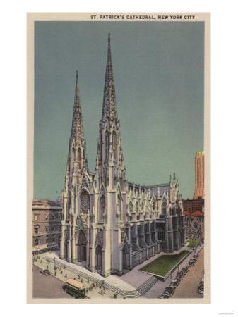 New York, NY - St. Patricks Cathedral Surroundings by Lantern Press