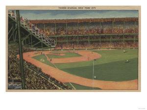 New York, NY - Yankee Stadium During Baseball Game by Lantern Press